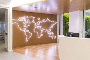 World-Map-Outline-LED-lights-wall-mount-custom-sign-iLight